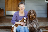 jane with 2 dogs
